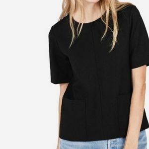 💜Everlane Ponte Black Short Sleeve Pocket Tee